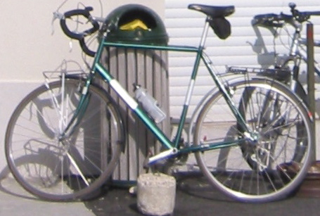 The bike I rode up the Ventoux. Check out the nice fenders and the luggage rack. Epitome of style.