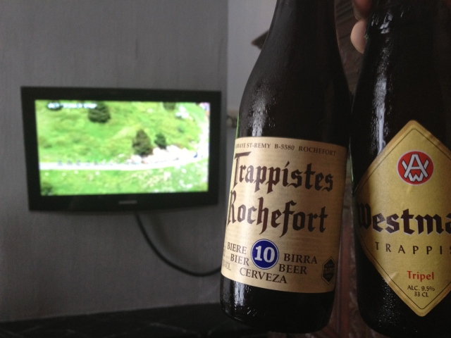 A couple of Tripels while watching the Tour.