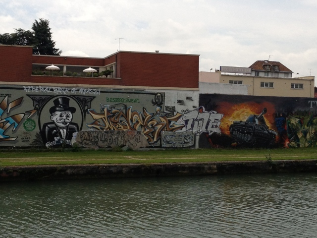Some of the best graffiti in the world is along the Canal de l'Ourcq