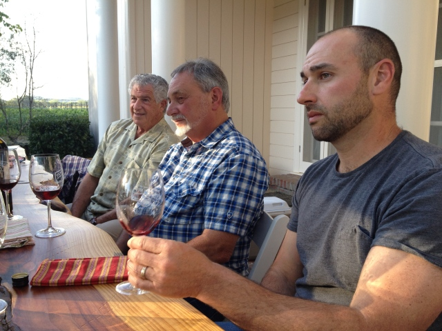 Wine Makers tasting with Eric Miller of Kokomo, Ray Teldeschi of Del Carlo Winery, and Barry Collier of Collier Falls.