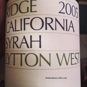 2005 Ridge Syrah