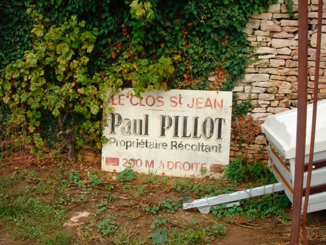 Paul Pillot in Chassagne-Montrachet
