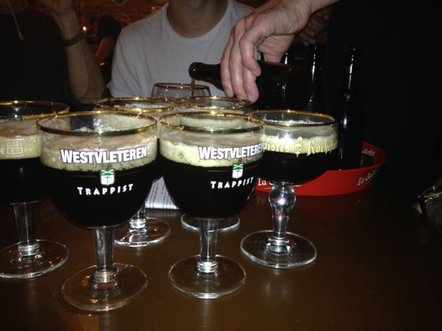 Lots and lots of beer (this is six bottles of the rare and wonderful Westfleteren 12)
