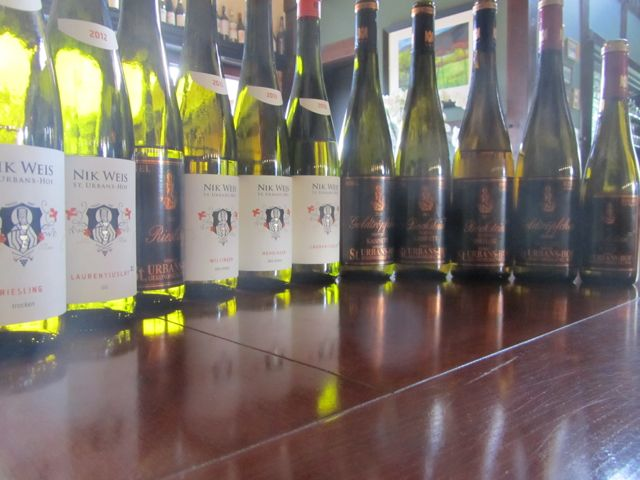 It was then off to the Mosel for a few days where I did manage to arrange a tasting at St. Urban's Hof.