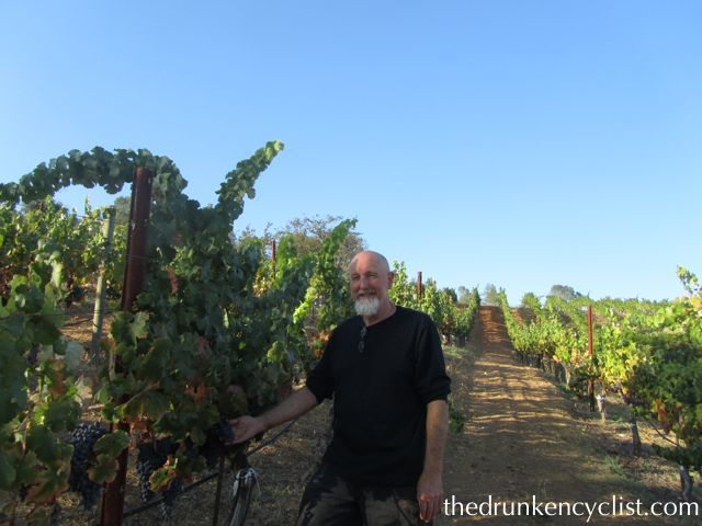 After the tasting Bill reluctantly posed for this picture out in the vineyard where we tried just about every variety from the vines. Are you kidding? Walking the vineyards with Bill Frick? A great experience...