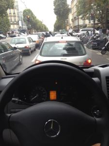 Rush hour in Paris. Yeah, the van was a Mercedes--just the way I roll....