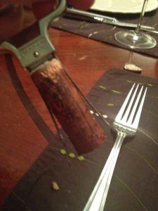 Still intact! The Haut Brion cork.