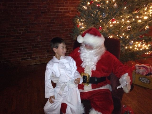 We stopped off to see Santa the other day on the way to Tae Kwon Do