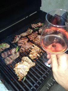 Grilling Kalbi is best done with a glass of rosé.