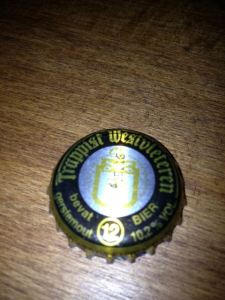 Regina took great pains to open the Westvleteren 12 without creating the slightest dent in the bottle cap—so that we could keep them as mementoes.