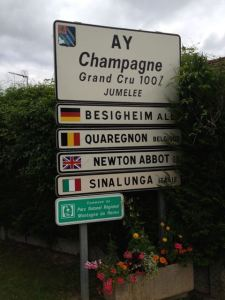 Aÿ is the home of some great Champagne houses (Bollinger, e.g.) and some of the greatest Pinot Noir vineyards in Champagne.