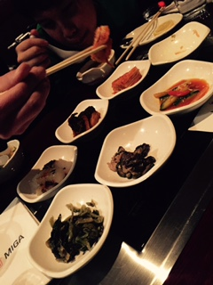 "At Korean restaurants, you are served all these small dishes of various types of Kimchee, called ""Banchan."""