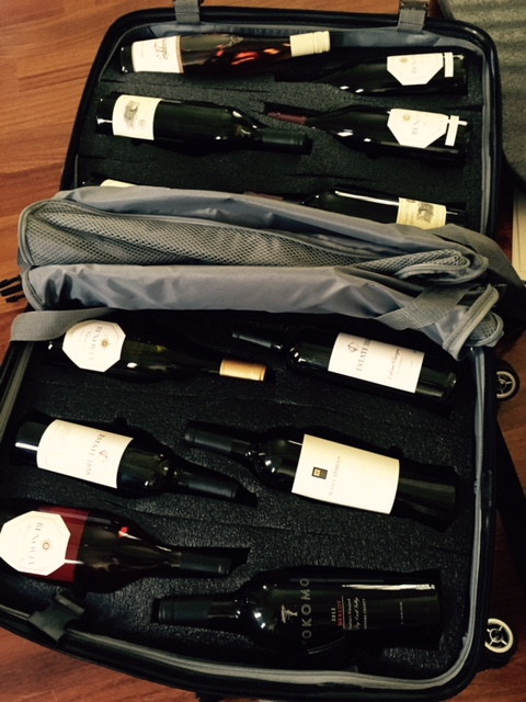 The VinGardeValise will hold 12 bottles of wine--no problem.