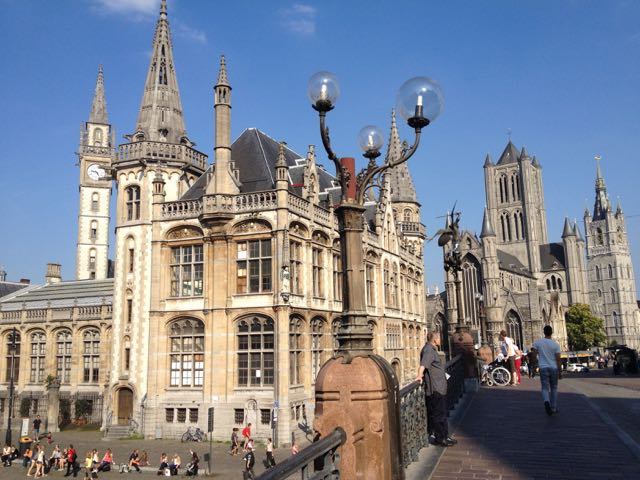 Ghent seems to be a city where they built buildings on a whim--there is no grid nor any discernable plan.