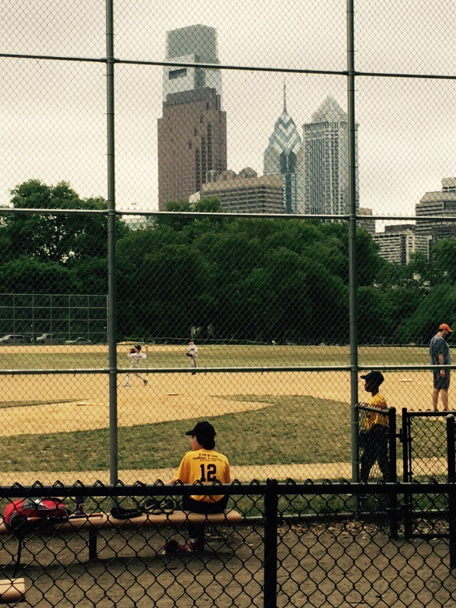 My kids play baseball right downtown.