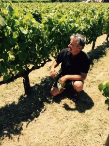 Markus Bokisch (Bokisch Vineyards) in Las Cerezas Vineyard.