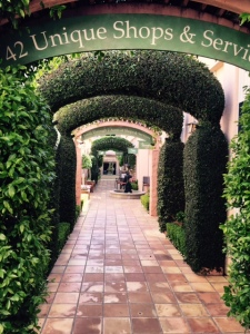 The beautiful passage way from the main square in Sonoma to the Passage tasting room.