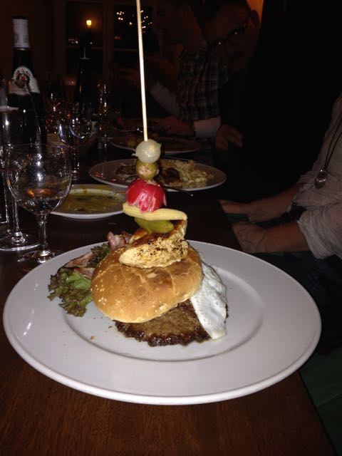 Das Weinhaus's interpretation of the hamburger.