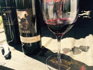 My first tasting of St. Amant was in the middle of Mohr-Fry Vineyard, on the back of a pick-up truck, where we compared a 2003 and a 2012 Marion's Vineyard Old Vine Zin.