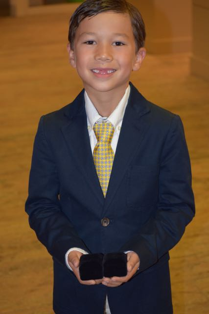 Just this past weekend, Sebastian was the ring bearer at his cousin's wedding.
