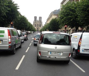 riding through the streets of Reims is not nearly as dangerous as say, Detroit.