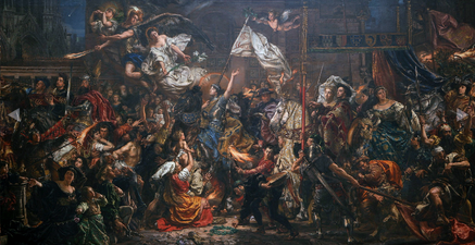 The Maid of Orleans by Jan Matejko (1886)--Joan's entrance into Reims