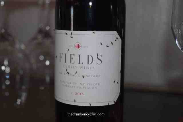 Fields new label adorned with fruit flies which are everywhere during fermentation.