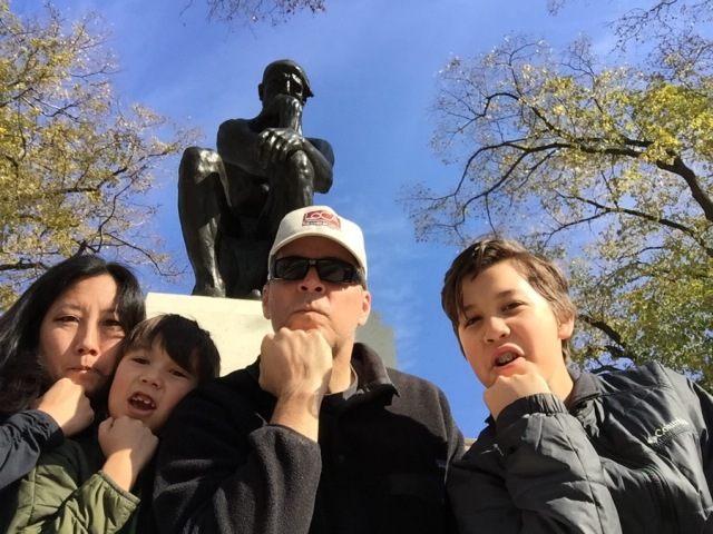 My wife was feeling left out so we headed over to the Rodin Museum after the Thangsgiving Day parade.