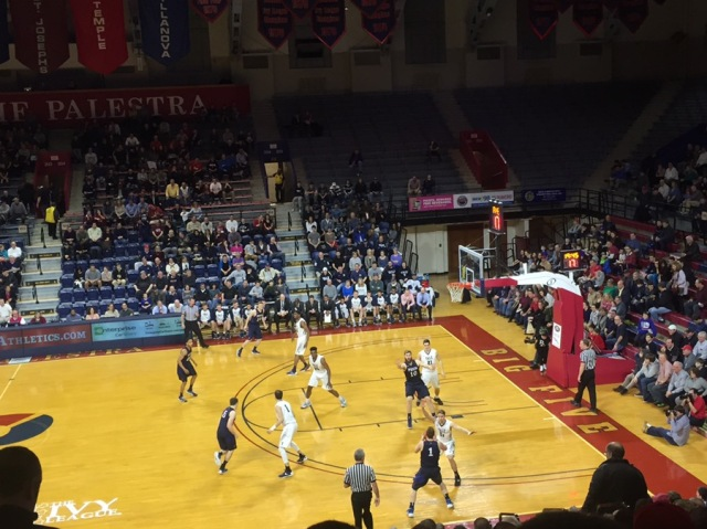 Six hours of basketball on Saturday (this is a picture from the Palestra, which is not where I did my coaching).