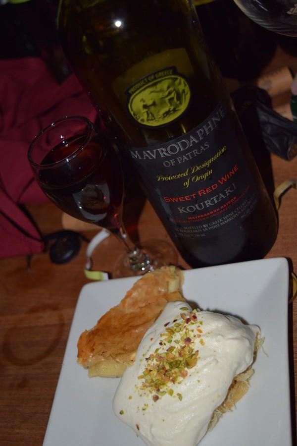 Dessert with Kourtaki Mavrodaphne.