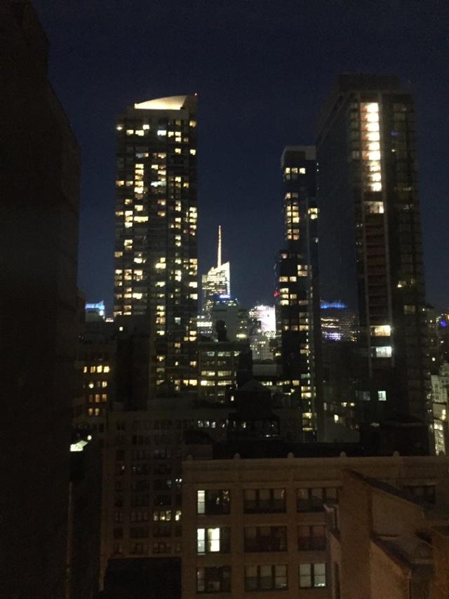 Back up to New York Sunday....