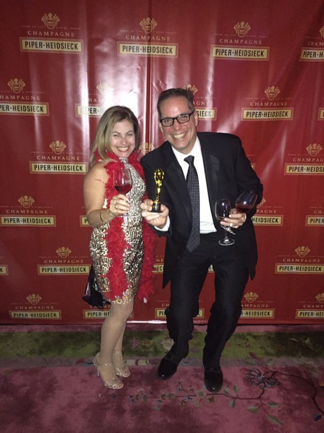Walk the red carpet to an Oscars' party hosted by Terlato and Piper-Heidsieck .