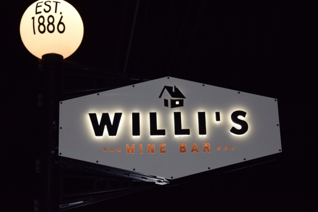 That night I ate at the incomparable Willi's Wine Bar.