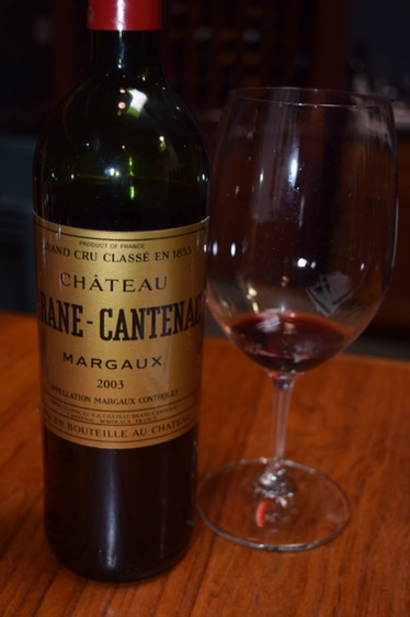 We tasted through a number of wines. This '03 Brane-Cantenac was fantastic.