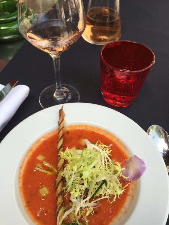 Gazpacho and a carafe of rosé. Ahhhh.