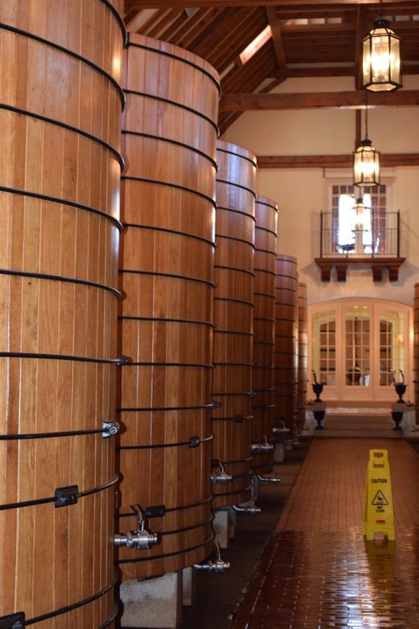 The large oak barrel room.