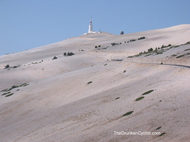 The top third of the Ventoux.
