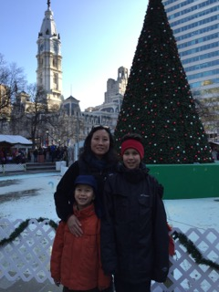 Christmas in Philly: Another tradition was to spend a day seeing the city and it's preparations for the season: Love Park, the light show at the Wanamaker, Christmas Village, the Comcast Center.