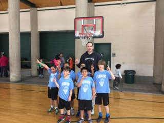 Coaching basketball at quirky Lloyd Hall.