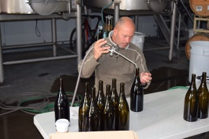 James MacPhail filling some magnums.