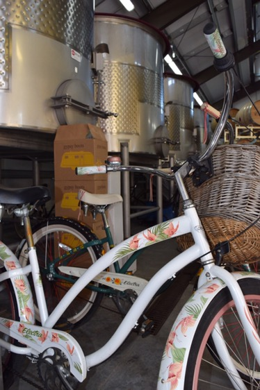 Any winery with bikes in the tank room is a place I need to visit.