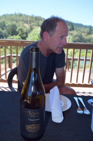 Lunch in July with Troon's winemaker Steve Hall.