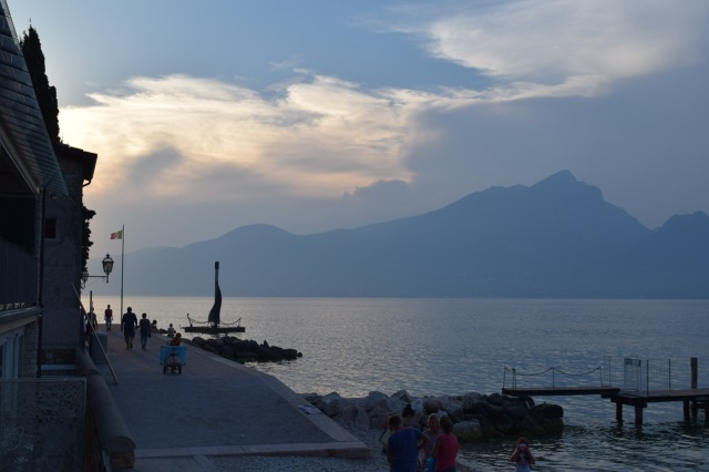 Sunset along Lake Garda.