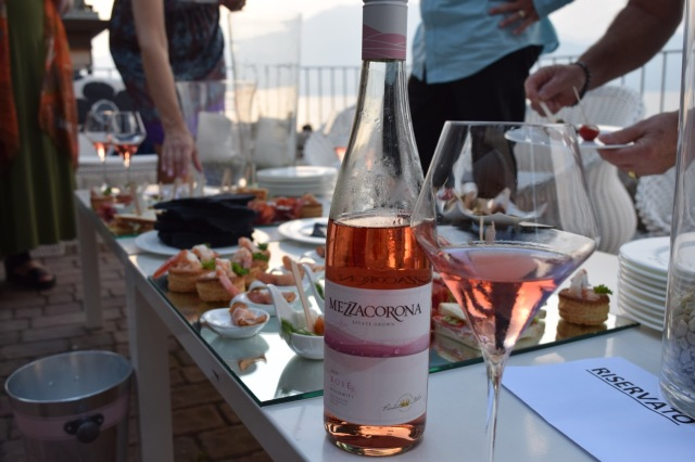 After a quick nap, we had apperitivo lakeside with Mezzacorona Rosé.