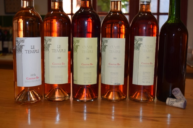 The last tasting was certainly memorable: a vertical tasting of rosé from 1996 to 2015 at Château Bas.