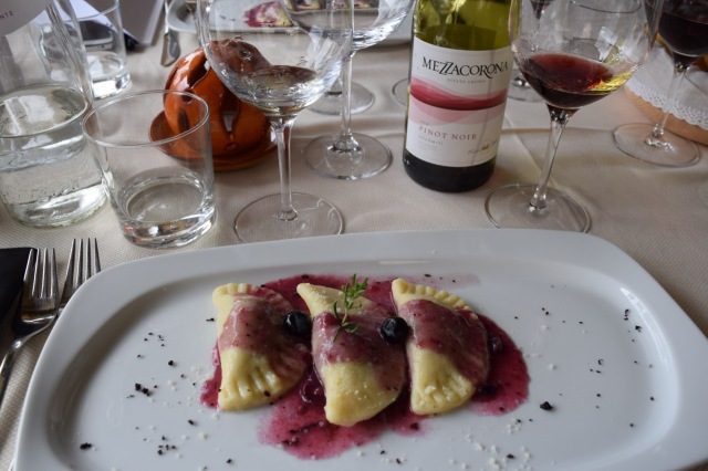 Lunch was up in the mountains and included a lively discussion centered around Pinot Noir.