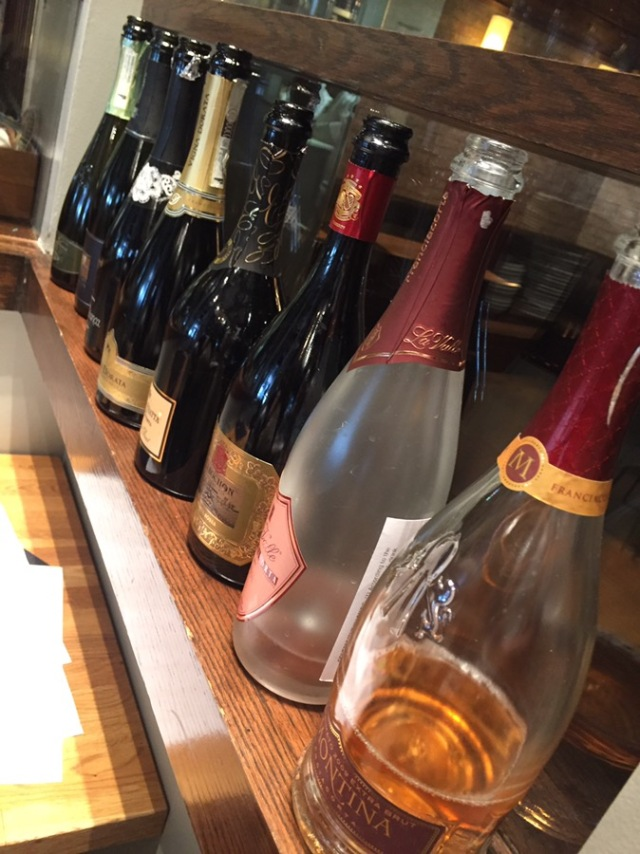 Just a few of the bottles of Franciacorta.