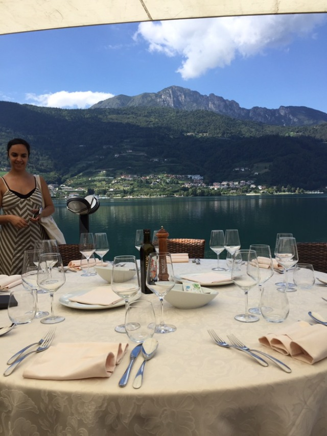 One of our lunches was on beautiful Lago di Caldonazzo.