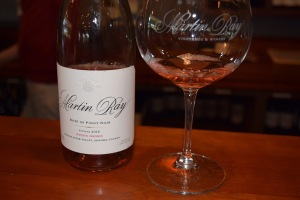 I had a bit of the delightful Martin Ray Rosé of Pinot Noir right of the bat, which helped me concentrate. A bit.