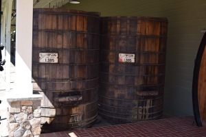 No longer used for wine making, these old redwood tanks stand testament to the history of the winery and the brand.